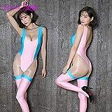 DSGTR Señoras Sexy Secretaria Maestra Disfraces Conjunto de Disfraces Lolita Disfraz de Ballena Azul Cosplay Mujer Delgada Sexy Body Kawaii