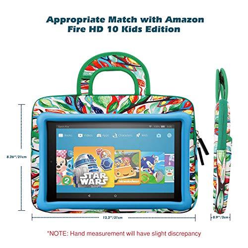 MoKo Kompatibel mit Fire HD 10 Kids Edition Sleeve Hülle, Tragbare Neopren Schutzhülle Tasche für Fire HD 10 Kids Edition (Vorherige Generation – 7) - Glück Baum