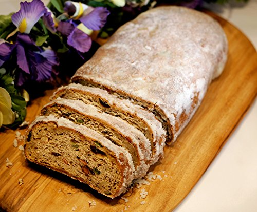 Christmas Stollen 2.5 LB - Traditional German Butter Stollen - 36 Years Handmade by Bakers not mach