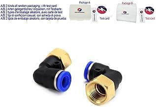 5Pcs 8mm codo 90 grados Manguera Tubo montaje Acoplador Conector Aire Agua Gas