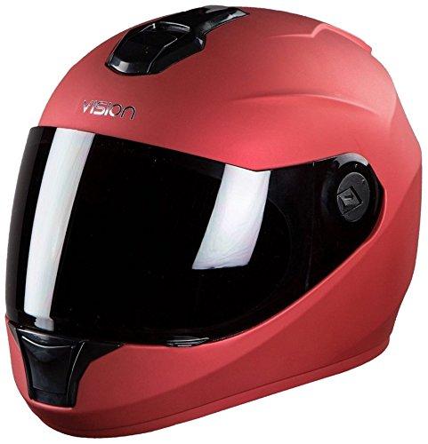 Steelbird Hunk Full Face Helmet With MJ Brand 5 mukhi Rudraksh (Matt Red, M)