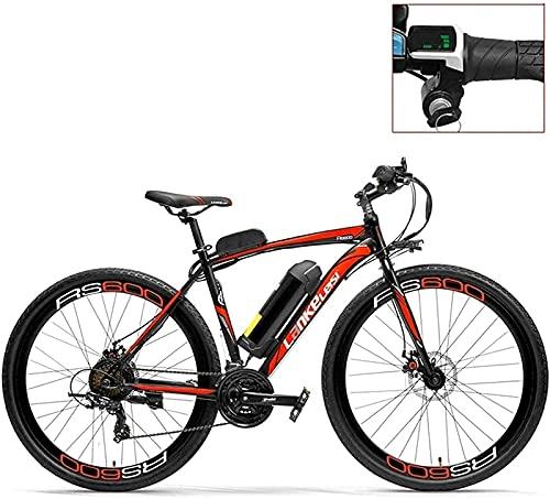 Bicicleta Eléctrica De Montaña para Adultos 700C Bicicleta Eléctrica con Asistencia De Pedal Batería De 36 V 20 Ah Motor De 300 W Aleación De Aluminio Cuadro Aerodinámico Ambos Frenos De Disco 20-35