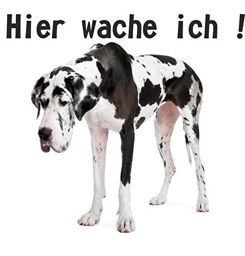 wodtke-werbetechnik hondenschild Hier waak ik dog zwart wit