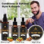 Beard Kit for Men Grooming & Care W/Beard Wash/Shampoo,2 Packs Beard Growth Oil,Beard Balm Leave-in Conditioner,Beard… 4