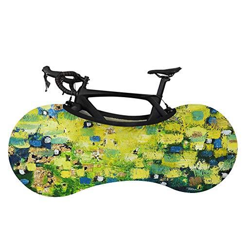 Cubierta para rueda de bicicleta de montaña, cubierta de almacenamiento para bicicleta, planeta, cielo, colorido, cubierta antisuciedad, cubierta protectora para bicicleta de montaña, a prueba de polvo, ropa de coche-D0521F1