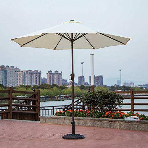 QIAOH Sombrilla para Terraza Bar, Sombrilla Parasol Jardin, Sombrilla para Terraza, Inclinable, Protección Solar, para Terraza Jardín Playa Balcón Piscina Patio, 2.4m