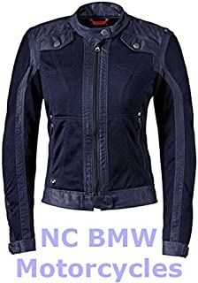BMW Genuine Motorcycle Women Ladies Venting Denim / Mesh Riding Jacket Size 38