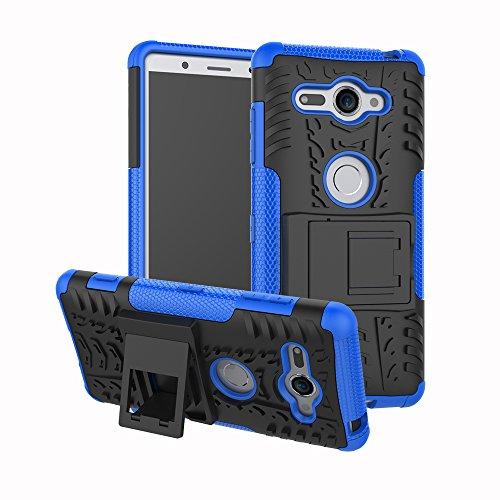 Sony Xperia XZ2 Compact Funda, FoneExpert® Heavy Duty silicona híbrida con soporte Cáscara de Cubierta Protectora de Doble Capa Funda Caso para Sony Xperia XZ2 Compact