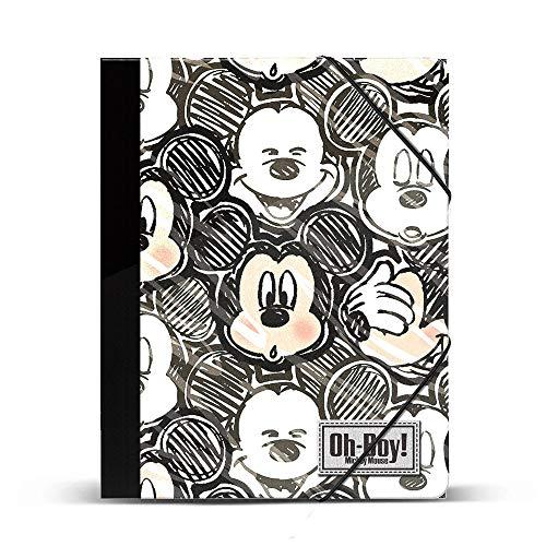 Mickey Mouse- Carpetas, Multicolor (Karactermania KM-37552)