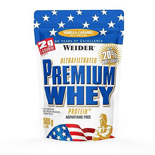 Weider Premium Whey Proteine del Siero di Latte, Sapore Vaniglia Caramel - 500 Gr