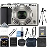 Nikon COOLPIX A900 Digital Camera (Silver) + 64GB Memory + Starter Bundle + Tripod