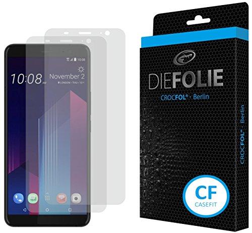 Crocfol Schutzfolie vom Testsieger [2 St.] kompatibel mit HTC U11 Plus - selbstheilende Premium 5D Langzeit-Panzerfolie inkl. Veredelung - für vorne, hüllenfre&lich