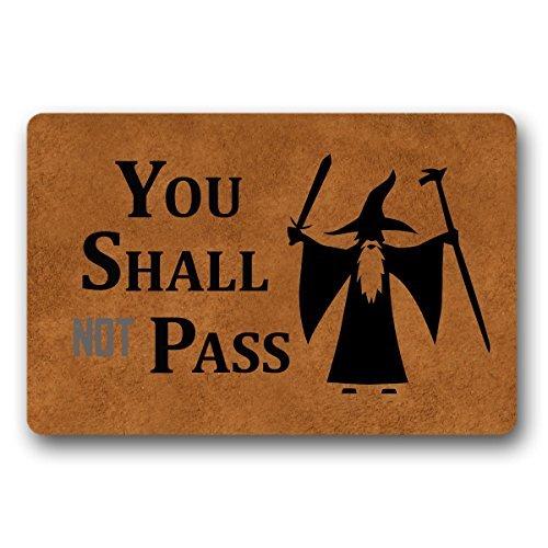 You Shall Not Pass - Felpudo de entrada (30 x 44 cm)