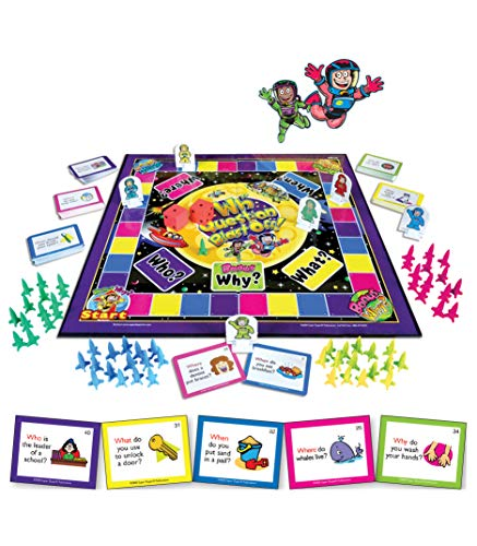 Super Duper Publications WH Question & Answer Blast-Off Board Game Educational Learning Resource for Children