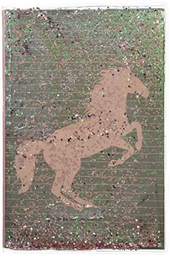 Notizbuch in Klarsichtumschlag - I LOVE HORSES - Notizen: mit glitzerndem Floating (Alben & Geschenke für Kinder)