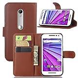 pinlu® PU Leather Protective Case for Motorola Moto G 3
