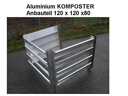 KOMPOSTER Anbauteil 120 x 120 x 80 (Innenmaß) aus witterungsbeständigem Aluminium, Metall