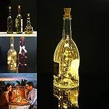 Mason Jar Luces solares 10pcs Calentar la Botella del Vino Blanco Solar 20LED Luces de Cadena Durable práctica Cork clásico Multi-Funcional Garland Botella Luces XXYHYQHJD