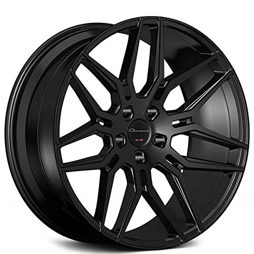 """20 Inch Rims - Black Rims - STAGGERED - Set of 4 Wheels - Made for MAX Performance - Fits ALL Cars - Racing Wheels for Challenger, Mustang, Camaro, BMW, and More (20x9"""" / 20x10.5"""") - Giovanna Bogota"""