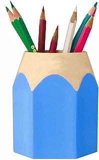 portapenne gomma per trucco Zunbo Portapenne quadrato in acrilico porta matite da ufficio trasparente organizer da scrivania accessorio da ufficio