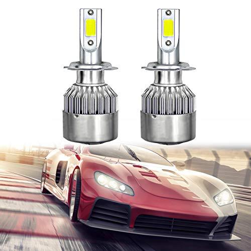 jeerbly Bombillas para faros delanteros H7 LS-C6-H7 COB luces antiniebla ahorro de energía 8000K