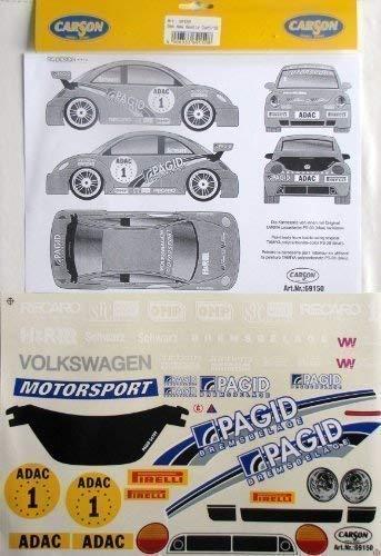 Carson Feuille Décorative 1:10 VW ADAC Nouvelle Coccinelle Cup Noir 1 69150
