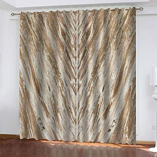 """Grommet Thermal Insulated Room Darkening Curtains Blackout Curtains for Bedroom Insulated Heavy Weight Textured Rich 2 Panels 140"""" W x 160"""" Hcm Retro Pattern"""
