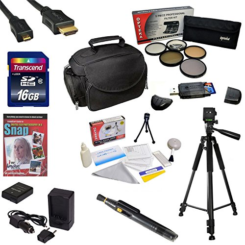 """47th Street Photo Best Value Accessory Kit For the Nikon D100, D200, D300, D300s - Kit Includes 16GB High-Speed SDHC Card + Card Reader + Extra Battery + Travel Charger + 67MM 5 Piece Pro Filter Kit (UV, CPL, FL, ND4 and 10x Macro Lens) + HDMI Cable + Padded Gadget Bag + Professional 60"""" Tripod + Lens Cleaning Pen + Cleaning Kit + DSLR Camera Intro DVD Photo Print + More"""