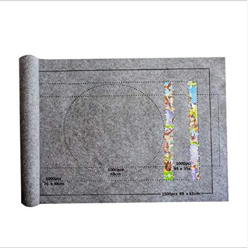 XIUNPR-6 Professionelle Puzzle-Decken, Aufbewahrungsdecken, tragbare Puzzle-Matten für bis zu 1500-6000 Teile (grau)