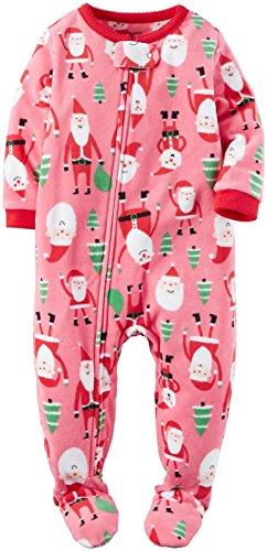 Carter's Girls' 1 Pc Fleece 357g180, Pink Santa Claus, 5T