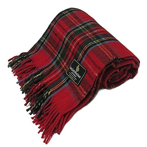 Ingles Buchan - Couverture en laine écossaise - tartan - 175 x 157,5 cm - Royal Stewart - 175 x 157 cm