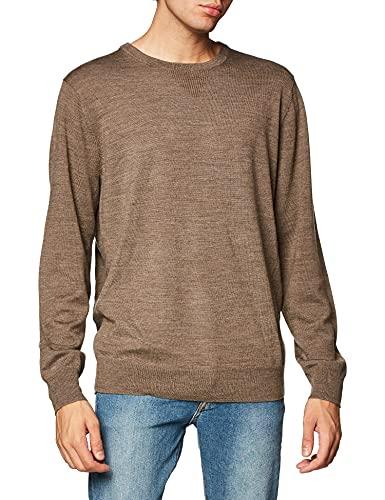 Amazon Brand - Goodthreads, maglione girocollo da uomo in lana merino, Marrone chiaro, US XXXL (EU 5XL - 6XL)