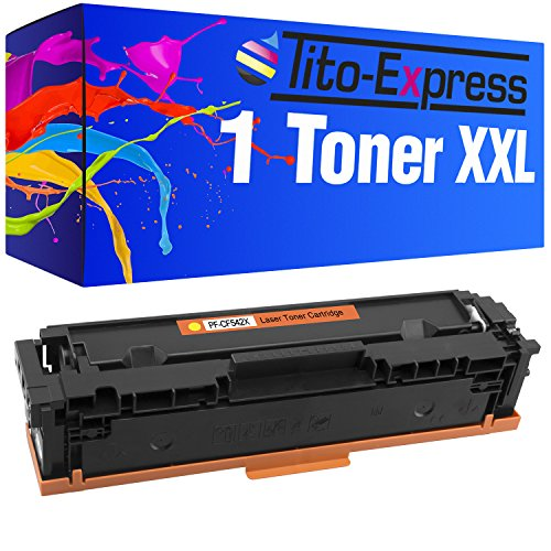 Tito-Express PlatinumSerie Toner Yellow für HP CF542X Color Laserjet Pro M254DNW M254NW M254DW M280NW MFP M281FW M281FDN M281FDW MFP M 280 NW 281 FW FDN FDW M 254 NW DW DNW