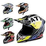 Hecht Motocrosshelm 52915 Motorrad-Helm Enduro ABS...