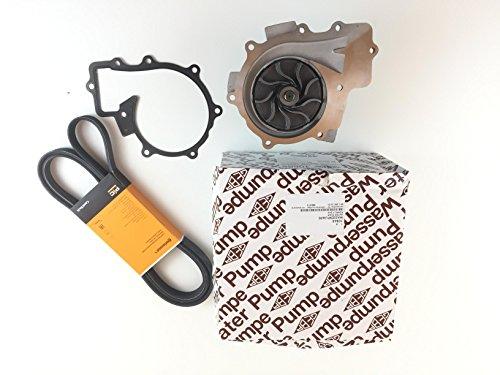 Wasserpumpe Made in Germany + Conti Keilrippenriemen Vito W639 110 CDI 113 CDI 116 CDI Viano W639 CDI 2.0 CDI 2.2 für Fahrzeuge ohne Start Stopp