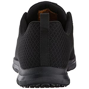 Skechers for Work Women's Ghenter Bronaugh Work and Food Service Shoe,BLACK, 6.5W US