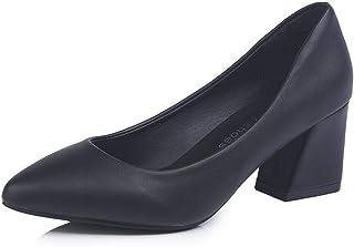 [EmiShoes] パンプス レデイーズ ヒール4㎝/6㎝ 美脚 通勤 コーンヒール ビジネス オフィス ソフト 通気性 大きいサイズ 22㎝-25㎝