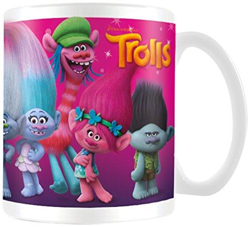 TROLLS Trols Personajes Taza de cerámica, Multicolor