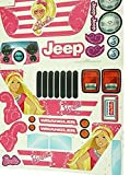 MLToys Replacement Stickers for Power Fisher Wheels Barbie Jammin Jeep Wranglers CHP65-0310A