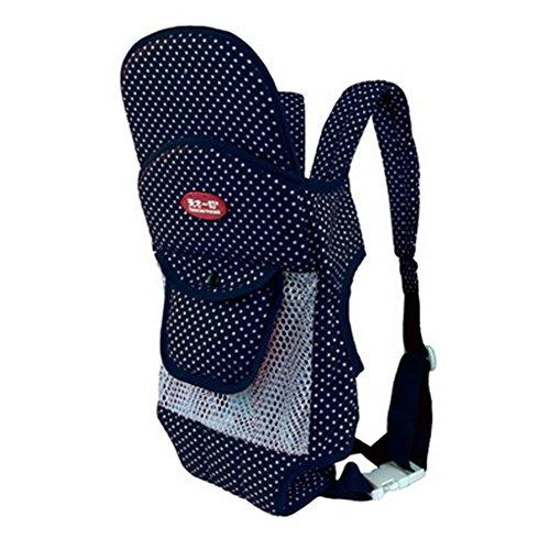 Quatre position Porte-bébé avec Excellent Maintien du dos (Bleu Dot Net)