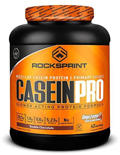 ROCKSPRINT | CASEÍNA MICELAR | Proteína de Lenta Digestión | Casein Pro | 1,5 kg Double Chocolate