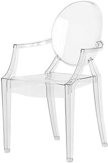 Kartell Loulou Ghost Silla, Policarbonato, Cristal, 37x63x39 cm, 1 Unidad