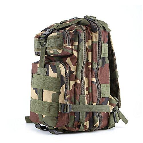 Minetom Unisex Polyester Erwachsene Rucksack Camping Wandern Reisen Trekkingrucksäcke Wanderrucksäcke Taktischer Rainproof Camo Tief One Size