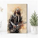 Chris Cornell Wall Art Print Canvas Painting Carteles nórdicos e impresiones Imágenes de pared para la decoración de la sala de estar -50x75cmx1pcs-Sin marco