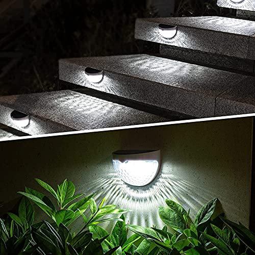 XH&XH Luz Solar, Paquete de 6 Luces de Cubierta solares Decorativas para Exteriores, lámpara de Pared de jardín Tipo Gota semicircular Impermeable, Patio, decoración de Fiesta, Sombra de luz, luz