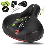 LUXOTON Most Comfortable Bike Seat - Wide Bicycle Saddle Replacement Memory Foam Soft Padded...