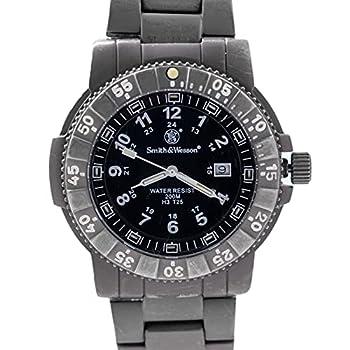 Smith & Wesson Men s Executive Watch Tritium H3 20ATM Titanium case bezel and strap 43mm