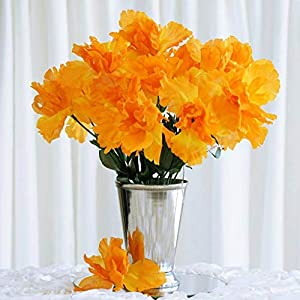 60 Orange Silk IRIS Wholesale Wedding Flowers Bouquets Centerpieces SALE