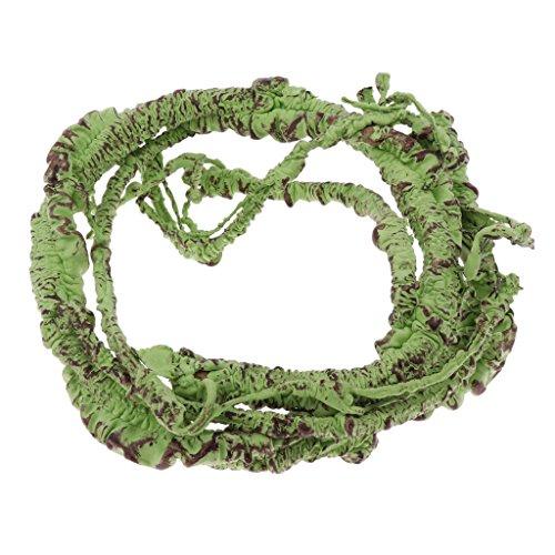 LOVIVER 110 Cm / 43.3 '' De Largo Artificial Ivy Vine para Reptiles Anfibios Verdes Plantas De Simulación Pet House Decor Jungla Hábitat