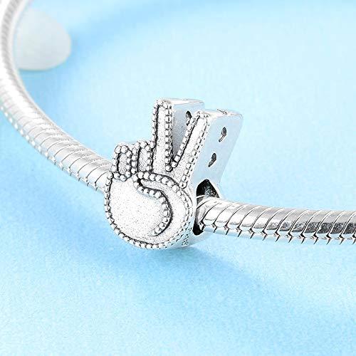XSZPKL 925 Plata esterlina Moda Victoria Gesto Modelado DIY Damas Perlas Fit Original Encanto Pulsera joyería